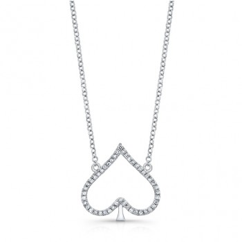 WHITE GOLD TRENDY SPADE DIAMOND PENDANT