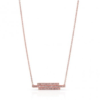 ROSE GOLD FASHION BAR DIAMOND PENDANT