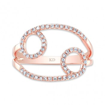 ROSE GOLD INFINITY CIRCLE FASHION DIAMOND RING