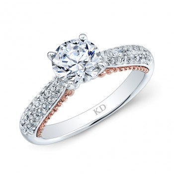 WHITE & ROSE GOLD CONTEMPORARY DIAMOND ENGAGEMENT RING