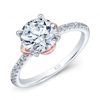 WHITE & ROSE GOLD ELEGANT DIAMOND BRIDAL RING