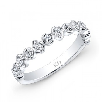 WHITE GOLD FASHION BLEND DIAMOND BAND